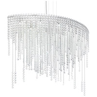Schonbek CH4811N-401H Chantant 8 Light 22 inch Stainless Steel Pendant Ceiling Light in Clear Heritage Strand