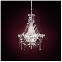 Schonbek Chrysalita 6 Light Chandelier in Stainless Steel and Spectra Crystal CM8319N-401A