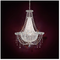 Schonbek Chrysalita 6 Light Chandelier in Stainless Steel and Spectra Crystal CM8326N-401A