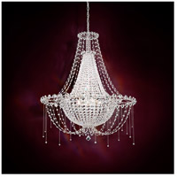 Schonbek Chrysalita 8 Light Chandelier in Stainless Steel and Spectra Crystal CM8334N-401A