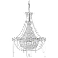 Schonbek CM8319N-401A Chrysalita 6 Light 19 inch Stainless Steel Chandelier Ceiling Light in Clear Spectra