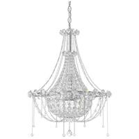 Schonbek CM8319N-401A Chrysalita 6 Light 19 inch Stainless Steel Chandelier Ceiling Light