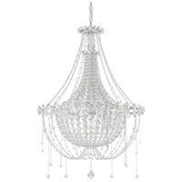 Schonbek CM8326N-401A Chrysalita 6 Light 26 inch Stainless Steel Chandelier Ceiling Light in Clear Spectra