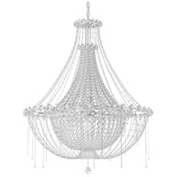 Schonbek CM8334N-401A Chrysalita 8 Light 34 inch Stainless Steel Chandelier Ceiling Light in Clear Spectra