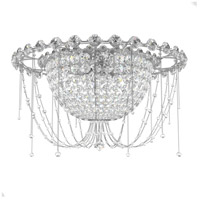 Schonbek CM8426N-401A Chrysalita 5 Light 26 inch Stainless Steel Flush Mount Ceiling Light in Clear Spectra