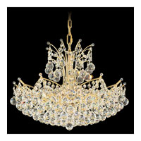 Schonbek Contessa 18 Light Chandelier in Gold and Crystal Swarovski Elements Trim 4822-20S