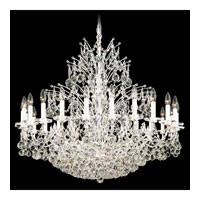 Schonbek Contessa 36 Light Chandelier in Silver and Crystal Swarovski Elements Trim 4824-40S