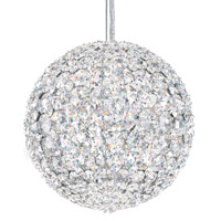 Da Vinci 4 Light 8 inch Stainless Steel Pendant Ceiling Light in Clear Swarovski