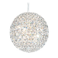 Schonbek Da Vinci 6 Light Pendant in Stainless Steel and Clear Spectra Crystal Trim DV1010A