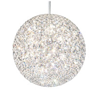 Da Vinci 18 Light 18 inch Stainless Steel Pendant Ceiling Light in Clear Swarovski, Geometrix,Canopy Sold Separately