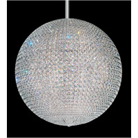 Schonbek Da Vinci 96 Light Pendant in Stainless Steel and Clear Spectra Crystal Trim DV3636ALED