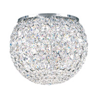 Da Vinci 5 Light 10 inch Stainless Steel Flush Mount Ceiling Light in Clear Swarovski