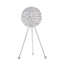 Da Vinci 20 inch 40 watt Stainless Steel Table Lamp Portable Light in Clear Swarovski