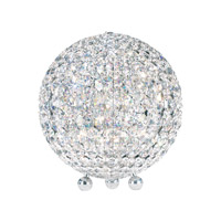 Schonbek DVT1012S Da Vinci 12 inch 40 watt Stainless Steel Table Lamp Portable Light in Clear Swarovski, Geometrix photo thumbnail
