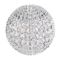 Da Vinci 4 Light 8 inch Stainless Steel Wall Sconce Wall Light in Clear Swarovski Elements