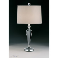 Schonbek Deco 1 Light Table Lamp in Polished Silver 20446N-40