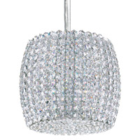 Schonbek Dionyx 1 Light Pendant in Stainless Steel and Crystal Swarovski Elements Trim DI0807S