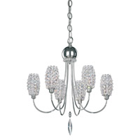 Dionyx 6 Light 16 inch Stainless Steel Semi Flush Mount Ceiling Light in Clear Swarovski, Convertible to Pendant
