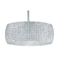 Schonbek Dionyx 3 Light Pendant in Stainless Steel and Crystal Swarovski Elements Trim DI1807S