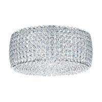 Schonbek Dionyx 2 Light Flush Mount in Stainless Steel and Crystal Swarovski Elements Trim DIC1206S
