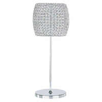 Dionyx 20 inch 100 watt Stainless Steel Table Lamp Portable Light in Clear Swarovski, Geometrix