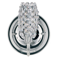 Schonbek Dionyx 1 Light Wall Sconce in Stainless Steel and Crystal Swarovski Elements Trim DIW0507S