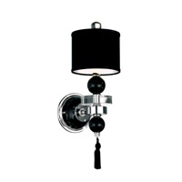 Schonbek Diva Home Furnishing 12 Light Wall Sconce in Silver and Cl/Bk Optic Trim 3851BLACK