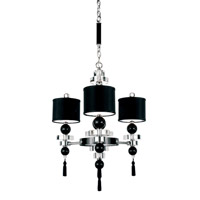 Schonbek Diva Home Furnishing 12 Light Chandelier in Silver and Cl/Bk Optic Trim 3853BLACK