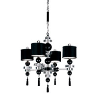 Schonbek Diva Home Furnishing 12 Light Chandelier in Silver and Cl/Bk Optic Trim 3854BLACK