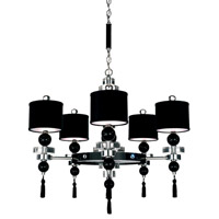 Schonbek Diva Home Furnishing 12 Light Chandelier in Silver and Cl/Bk Optic Trim 3855BLACK