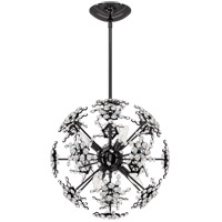 Schonbek DN1018N-55S Esteracae 6 Light Jet Black Pendant Ceiling Light in Swarovski Cast Jet Black