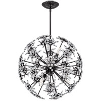 Schonbek DN1024N-55S Esteracae 6 Light Jet Black Pendant Ceiling Light in Swarovski Cast Jet Black
