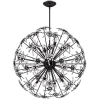 Schonbek DN1036N-55S Esteracae 8 Light Jet Black Pendant Ceiling Light in Swarovski Cast Jet Black