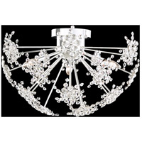 Schonbek DN1224N-401A Esteracae 3 Light Polished Stainless Steel Flush Mount Ceiling Light in Clear Spectra