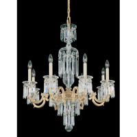 Schonbek Dorchester 8 Light Chandelier in Parchment Gold and Clear Heritage Handcut Trim 5022-27