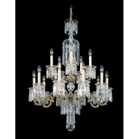 Schonbek Dorchester 15 Light Chandelier in Parchment Bronze and Clear Heritage Handcut Trim 5024-74