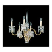 Schonbek Dorchester 5 Light Wall Sconce in Heirloom Gold and Clear Heritage Handcut Trim 5029-22