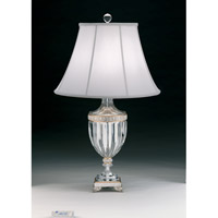 Schonbek Dynasty 1 Light Table Lamp in Antique Silver 20110N-48