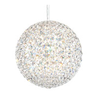 Schonbek Da Vinci 12 Light Pendant in Stainless Steel and Clear Spectra Crystal Trim DV1212A