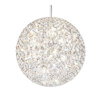 Schonbek Da Vinci 18 Light Pendant in Stainless Steel and Crystal Swarovski Elements Trim DV1818S
