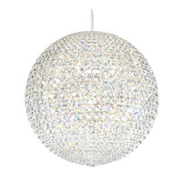 Schonbek Da Vinci 84 Light Pendant in Stainless Steel and Crystal Swarovski Elements Trim DV2424SLED