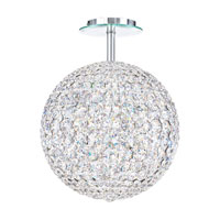 Schonbek Da Vinci 12 Light Semi Flush Mount in Stainless Steel and Crystal Swarovski Elements Trim DVR1212S