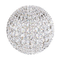 Schonbek Da Vinci 4 Light Wall Sconce in Stainless Steel and Crystal Swarovski Elements Trim DVW0808S