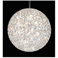 Schonbek DV1818S Da Vinci 18 Light 18 inch Stainless Steel Pendant Ceiling Light in Clear Swarovski, Geometrix,Canopy Sold Separately