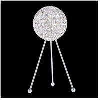 Da Vinci 20 inch 40 watt Stainless Steel Table Lamp Portable Light in Clear Swarovski, Geometrix