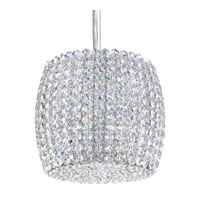 Schonbek Dionyx 1 Light Pendant in Stainless Steel and Strawberry Fields Swarovski Elements Trim DI0807STR