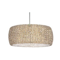Schonbek Dionyx 3 Light Pendant in Stainless Steel and Golden Shadow Swarovski Elements Trim DI1807GS