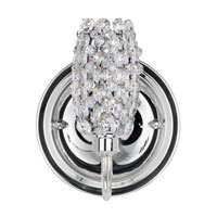 Schonbek Dionyx 1 Light Wall Sconce in Stainless Steel and Strawberry Fields Swarovski Elements Trim DIW0507STR