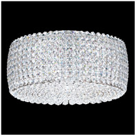 Dionyx 2 Light 12 inch Stainless Steel Flush Mount Ceiling Light in Clear Swarovski, Geometrix