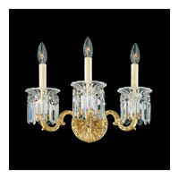 Schonbek Dorchester 3 Light Wall Sconce in Heirloom Gold and Clear Heritage Handcut Trim 5018-22